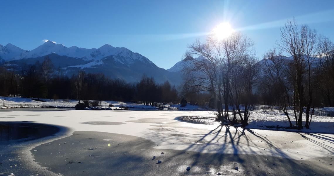 Base de loisirs d'Agos l'hiver